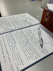 Photo of research notebook