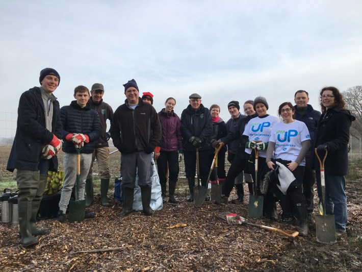 Group of volunteers for The Conservation Volunteers