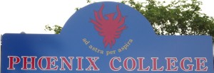 Motto of Phoenix College, Reading. Photo: Peter Kruschwitz.