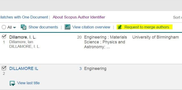 Screenshot from Scopus database