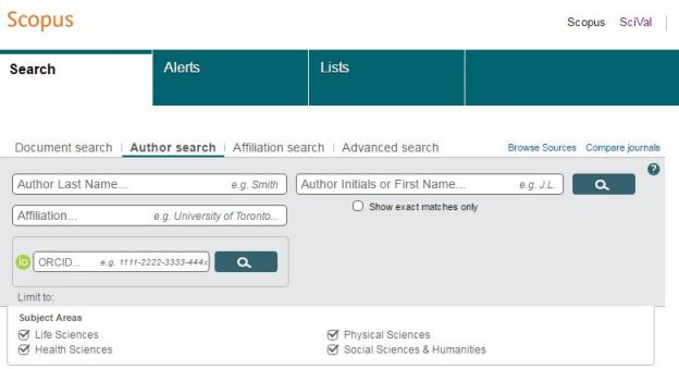scopus author ID 1