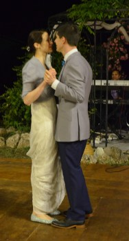 The first dance at the reception
