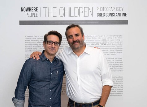 age Gallery curator Mike Ensdorf (left) with Constantine.
