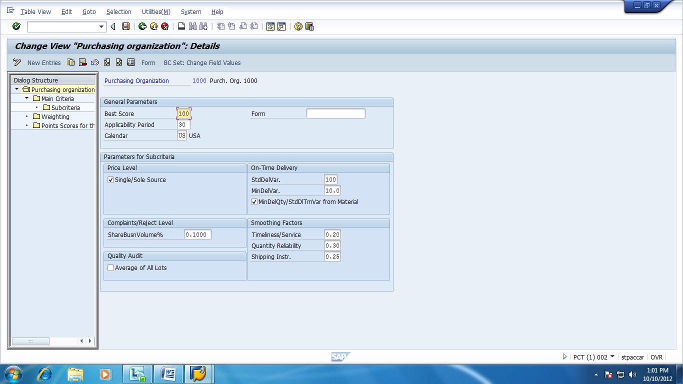 Quality Calculation In Vendor Evaluation Mm Sap