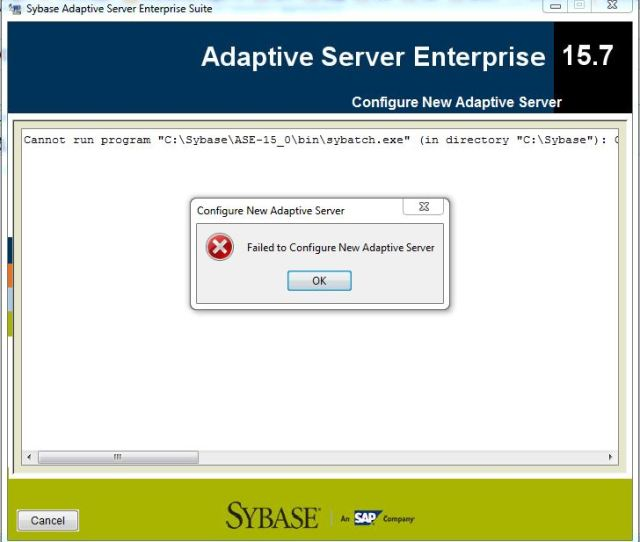 In Directory Csybase Createprocess Error14001 The Application Has Failed To Start Because Its Side By Side Configuration Is Incorrect
