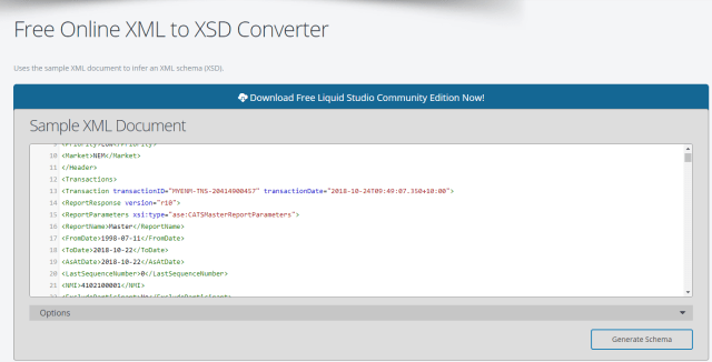 Data Transfer from XML File to SAP Data Services Using the XSD