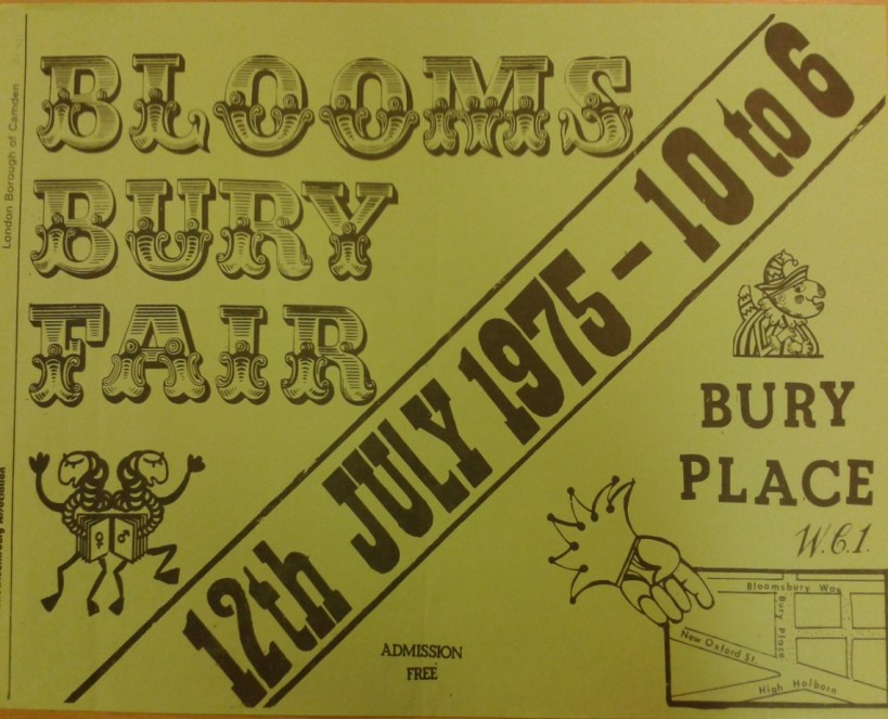 Poster C/O Camden Local Studies and Archives Centre & the Bloomsbury Association