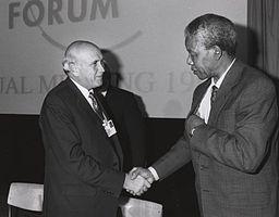 Nelson Mandela and De Klerk