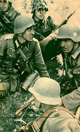 Άνδρες της Βέρμαχτ σε προπαγανδιστική αφίσα (ΓΑΚ/ΑΝΚ)