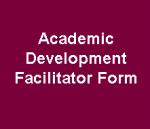 Academic Development Facilitator Form