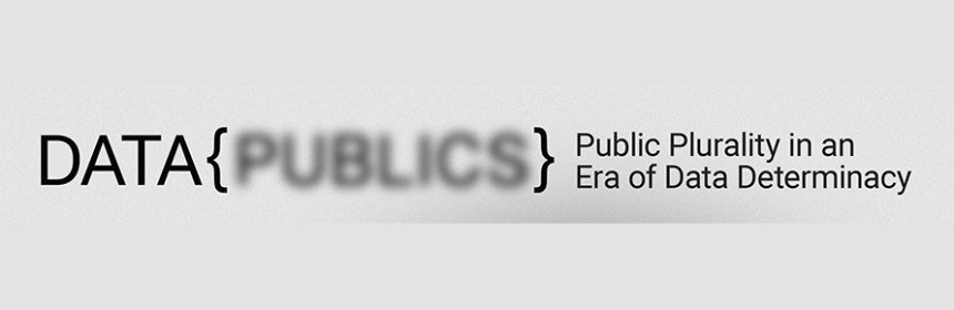Data Publics logo - Goldsmith's University Department of Visual Cultures