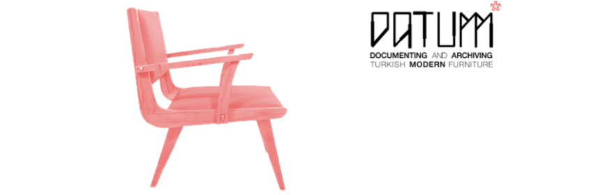 An image of a chair with the DATUMM logo