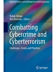 Front cover of book - Combatting Cybercrime and Cyberterrorism - Babak Akhgar and Ben Brewster (Eds)