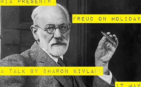 Promotional image of WIA...Presents event featuring Sharon Kivland - with an image of Freud with a cigar (image courtesy of Sharon Kivland)