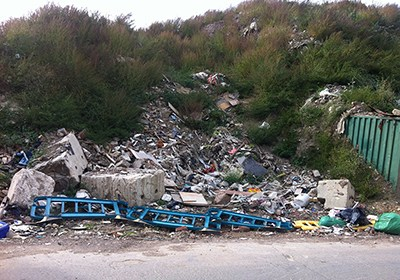 Image courtesy of Joanne Lee, SHU - fly tipping/litter