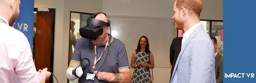 Prince Harry visits Impact VR Lab