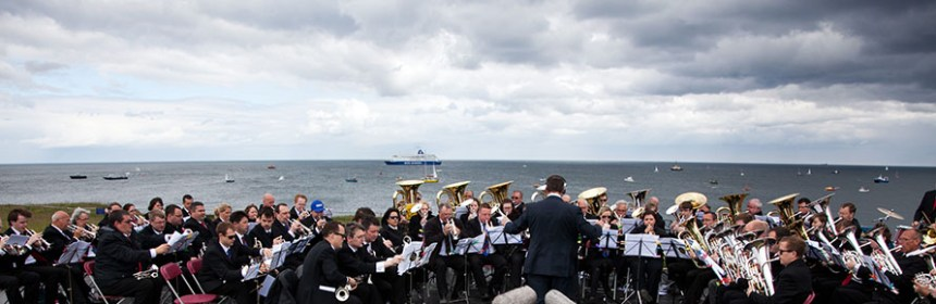 An image of the performance of 'Foghorn Requiem', photograph taken from website, property of Kristian Buus.