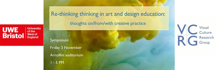 Composite image of Rethinking Thinking symposium banner, UWE Bristol logo and VCRG logo