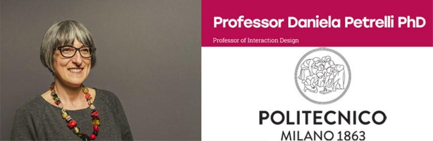 Image of Daniela Petrelli with Politecnico di Milano logo