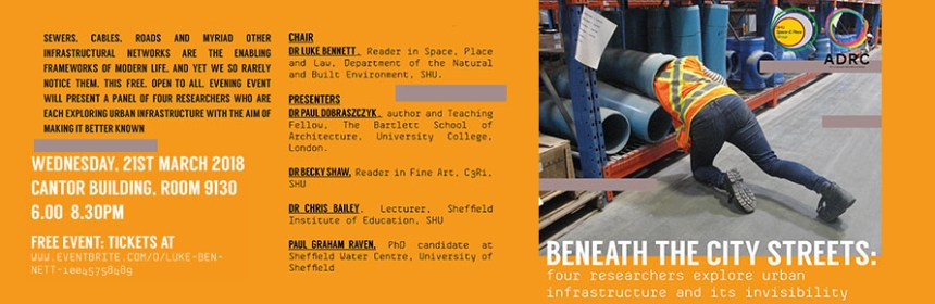 Flyer for 'Beneath city streets' event - courtesy of Dr Becky Shaw