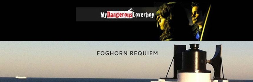 Banner image composite of Foghorn Requiem by Lise Autogena and My Dangerous Loverboy by Virginia Heath