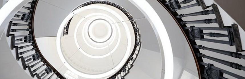 Spiral staircase at HPO