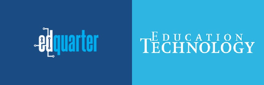 Composite image of logos of EDQuarter and Education Technology