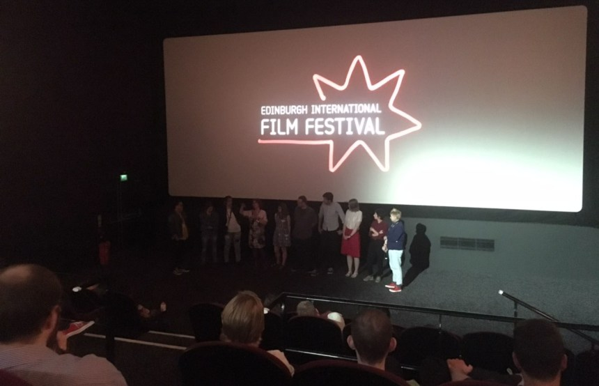 Image of crowd at the world premiere of 'Lift Share' Q&A at the EIFF.