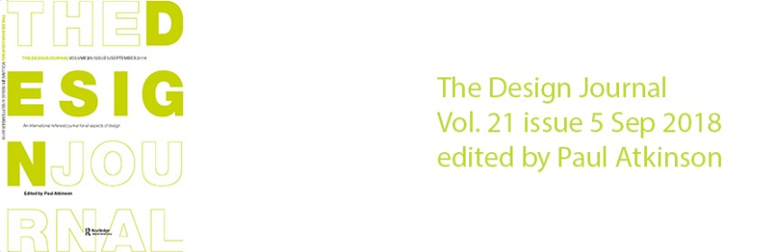 The Design Journal, Vol. 21 issue 5, Sep 2018