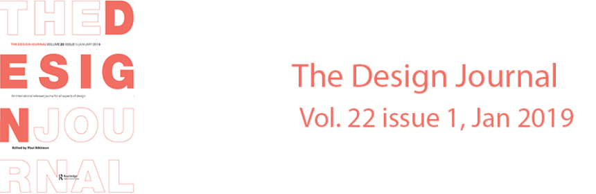 The Design Journal Vol. 22 issue 1