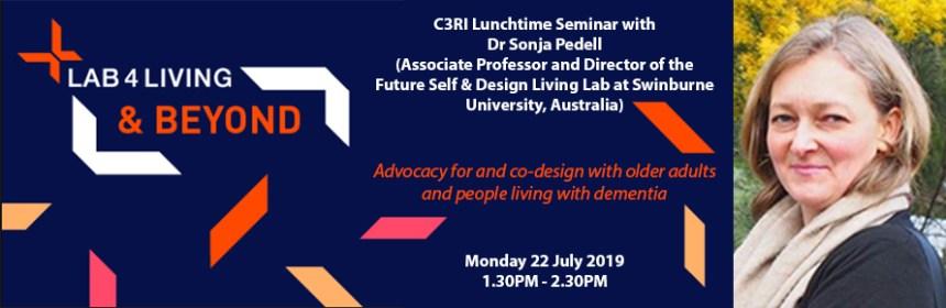 Sonja Pedell seminar (Lab4Living symposium) banner