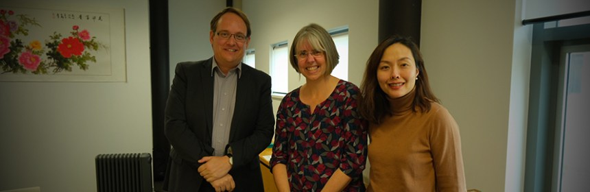 Claire Craig and Fanke Peng with Professor Jason Bainbridge, University of Canberra