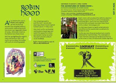 Robin Hood screening, Sensoria festival programme