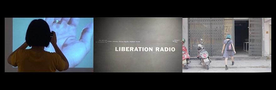 Esther Johnson's Liberation Radio stills - Banner
