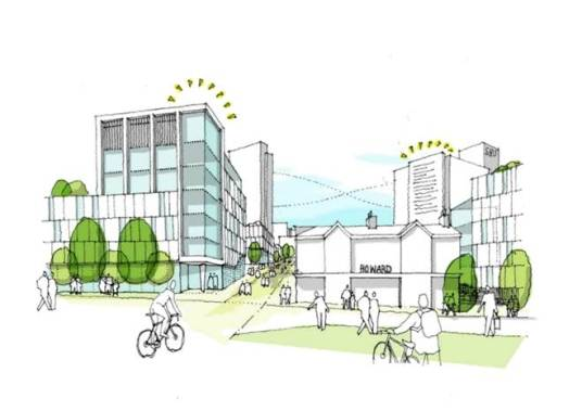 The new Sheffield Business School maximising our position at the gateway to the city.