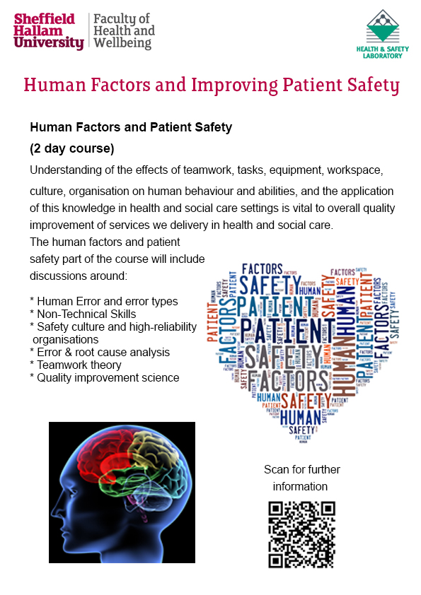 Human Factors course flyer