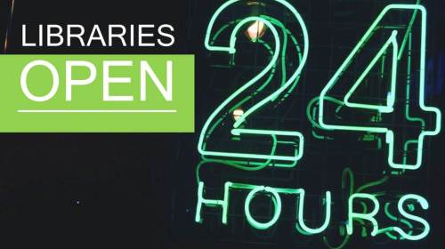 libraries open 24 hours