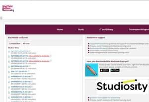 Image of Studiosity link in Blackboard
