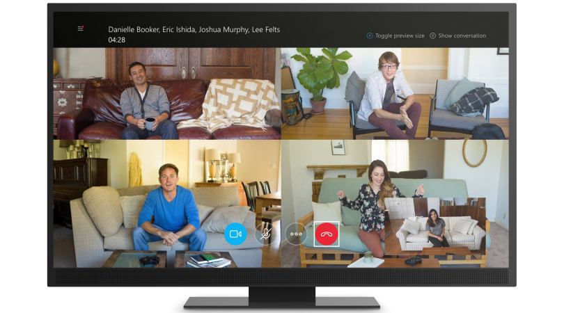 Group video call on Skype for Xbox One