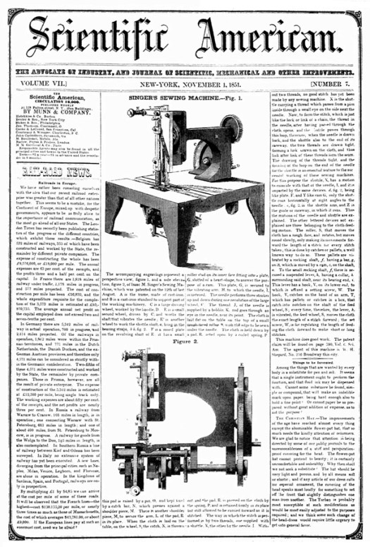 first singer sewing machine