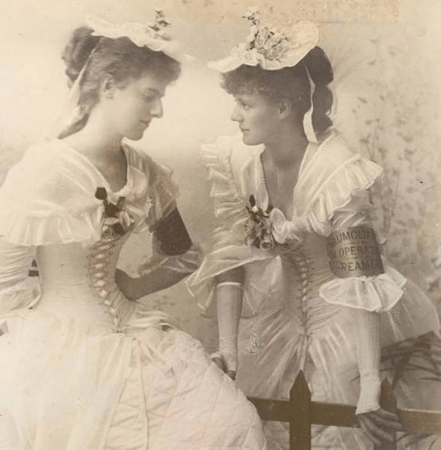 Constance Gore-Booth (left) and her sister, Eva, in 1895. Photo: Wikipedia
