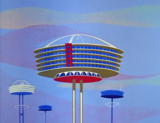 The Jetson's House From The Jetsons Animated Cartoon, Hanna Barbera,1962.