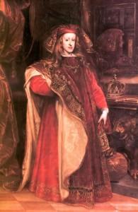A young Charles II, c. 1673, via Wikimedia Commons