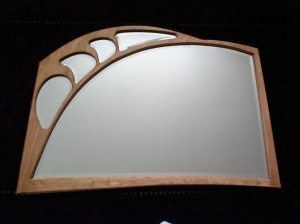 Beveled Glass Wall Mirror by Julian Hamer