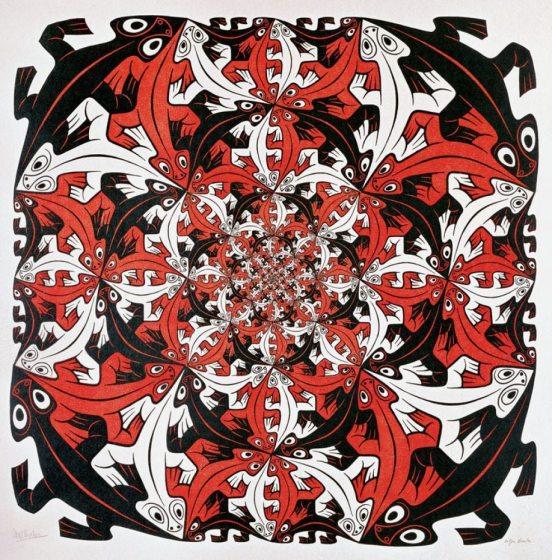 geckos by MC Escher
