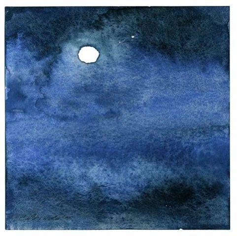 """""""Moon Cloud"""", watercolor by Charu Colorado"""