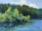 Lake Selmac, oil painting by Silvia Trujillo