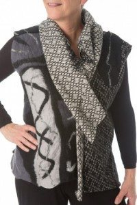 Fault Lines Vest Black and White