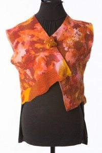 autumn orange vest front view