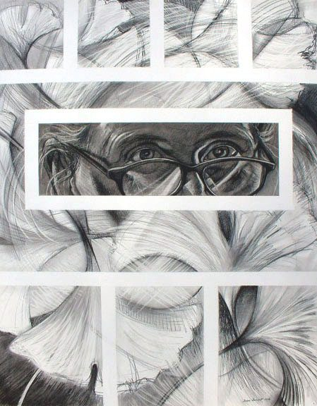 Grace Benedict, Self-Portrait with Ginkgo